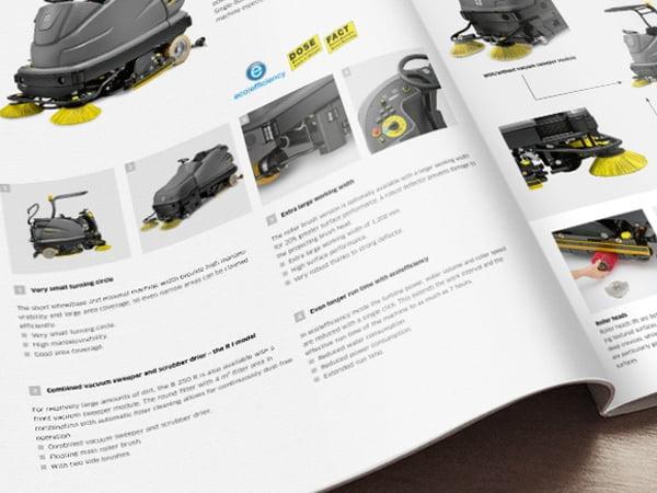 buku katalog karcher dengan foto background putih